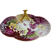 William Guerin Limoges Hand Painted Artist Signed Dresser Tray, 1901