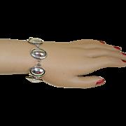 SALE Vintage Sterling Silver Navajo Bracelet Signed Artie Yellowhorse