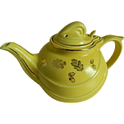 SALE Vintage Hall Pottery  Yellow Teapot, 1950's