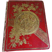 SALE Antique Victorian Scrapbook