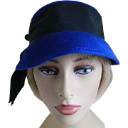 SALE Vintage Wool Glamour Felt Hats by Terry Sales Corp. New York 1940's