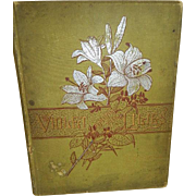Victorian Hard Cover Book, Violet Among The Lilies by L. Clarkson 1885