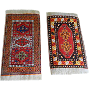 Vintage Pair of Doll House Woven Rugs