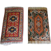 Vintage Pair of Woven Doll House Rugs