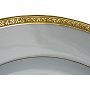 Antique GDA Limoges France Gold Encrusted Plates Made for Burley and Company, Chicago, Set of