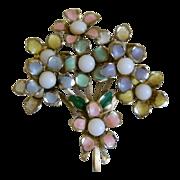 SALE Vintage Bouquet of Posies Enamel Brooch