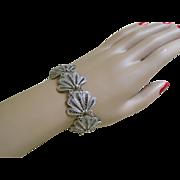 Lovely Silver Tone Filigree Bracelet 1930-50's