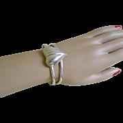 SALE Vintage Sterling Silver Elegant Cuff Bracelet
