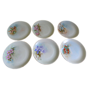 """""""Favorite"""" Hutschenreuther & Co. Hand Painted Plates, Set of 6, Artist Signed 1912-1"""