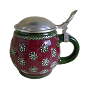 Marzi & Remi Germany Stein with a DBGM Pewter Lid 1960's
