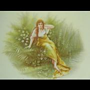Rosenthal Carmen Bavaria Portrait Plate 1898-1906