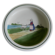 Reserved for Annabella Zell Hand Painted Baby Dish 1907-1928 Germany
