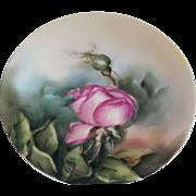 SALE Antique Limoges Tressemann & Vogt Hand Painted Plate 1892-1901