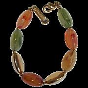 Napier Art Glass Beaded Bracelet 1970's