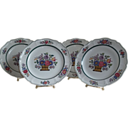 Floral Wedgwood Plates Set of Four