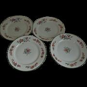Moritz Zdekauer (MZ) Austria Blue Bird Floral Dessert Plates Set of 4