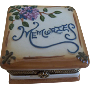 SALE Antique German China Memories Box