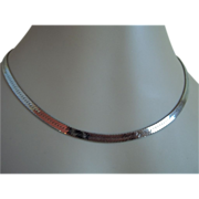 925 Silver Chain Necklace 1980's