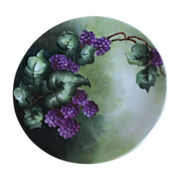 Lovely Limoges France Raspberry Hand Painted Plate 1900-1920