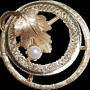 1/20 12kt GF Pin by Carl Art, Rhode Island  1950-1960's