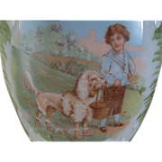 A Boy and His Dog Glass Vase
