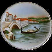 Heinrich & Company Bavaria Hand Painted Plate, Signed J. Weber 1911