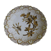 D & C Limoges Plate Hand Painted, Artist Initials, 1891