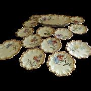 SALE Antique Lanternier Limoges Ice Cream Set Decorated by Elite Limoges, Bawo and Dotter 1891