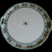 Beautiful Hand Painted Morimura Nippon Cake Plate/Tray 1911-1921