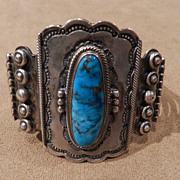 Wallace Jr. Bracelet in Turquoise and Silver