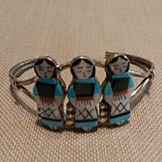 Zuni Bracelet with Inlay Maidens
