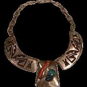 1970's Hopi Pawn Necklace