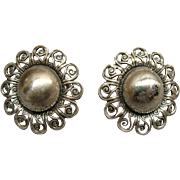 Vintage Pair Of Danecraft Sterling Silver earrings