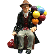 SALE Vintage Royal Doulton The Balloon Man Rare Blue Balloon HN1954 MINT