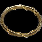 Vintage Gold Filled Bracelet With Rope Wrap