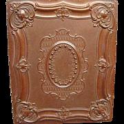 RARE Pecks 1/2 Plate Gutta Percha Daguerreotype Case Dated 1854 Mint