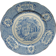 Staffordshire Transferware Plate Oriental By Ridgways Ca 1840