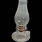 Civil War Era Glass Kerosene Oil Cup and Saucer Finger Lamp