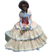 "SALE Royal Doulton Porcelain Figurine ""DAY DREAMS"" HN1731 Ruffled Dress, Bonnet MINT"