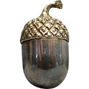 Tiffany & Co. Sterling Acorn Shaped Thimble Holder / Pill Container