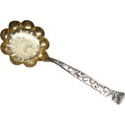 "Tiffany & Co. Sterling Silver Vine Fruits & Flowers ""Gourd"" Sugar Sifter Spoon 6 3/8"