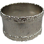 Fancy Solid Sterling Silver Napkin Ring
