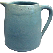 Blue Marblehead Art Pottery Pitcher
