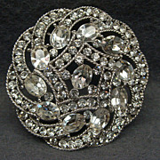 SALE PENDING Vintage Trifari Rhinestone Brooch Pin Mint Condition