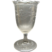 EAPG Pressed Flint Glass Celery Bellflower Fine Rib McKee Brothers 1860