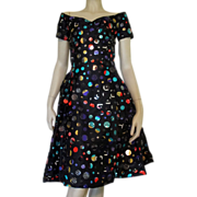 Vintage 1960s Arnold Scaasi Cocktail Party Dress Art To Wear