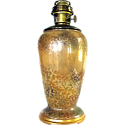 Vintage Aladdin #12 Venetian Art Craft Oil Kerosene Lamp Glass Vase Base & Burner #1