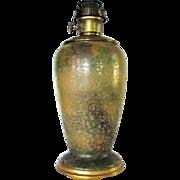 Vintage Aladdin #12 Venetian Art Craft Oil Kerosene Lamp Glass Vase Base Hand Painted #2