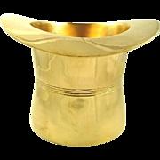 Brass Top Hat Shaped Cooler or Ice Bucket Barware