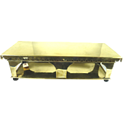 Antique Brass Food Warming Tray Buffet